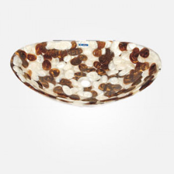 "14.5"" Pebble Wash Basin Oval Shape"