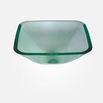 15'' Clear Glass Rectangular Wash Basin