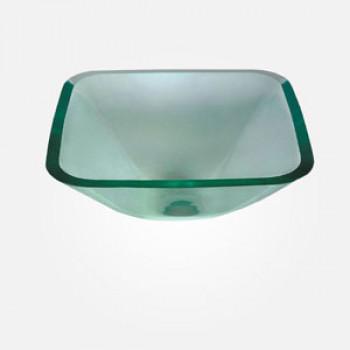 15'' Clear Glass Rectangular Wash Basin