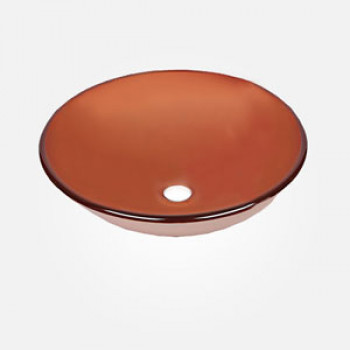 16'' Coloured Glass Round Wash Basin