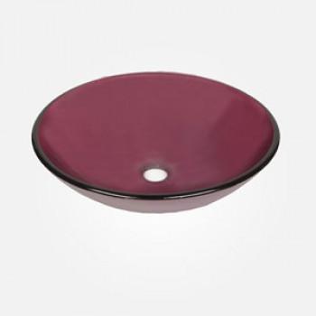 16'' Coloured Glass Round Wash Basin