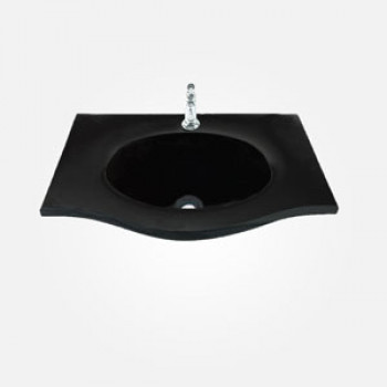 18'' Painted Glass Rectangular Wash Basin