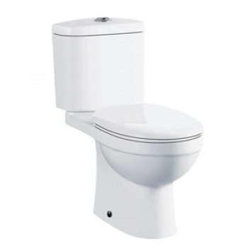 "Dooa Floor Mounted Toilet - 12"" Rough in - Fog"