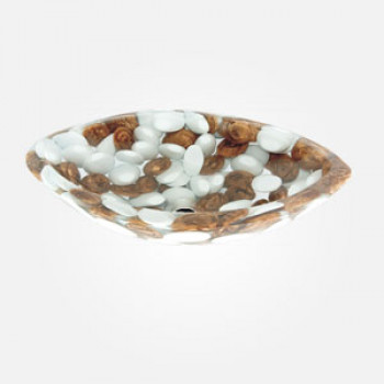 "21"" Pebble Wash Basin Eye Shape"
