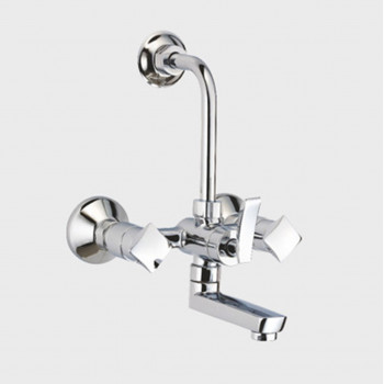 Aquel Wall Mixer With Spout & Bend For Over Head Shower FT 02-42