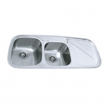 Carysil Two Bowl Kitchen Sink with Drainer