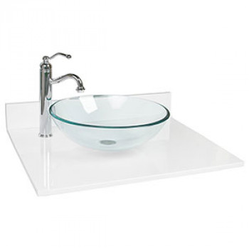 Clear Glass Round Wash Basin 16 inches