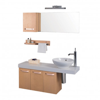 Dooa Bathroom Cabinet With Wash Basin (Vanity Set) D111