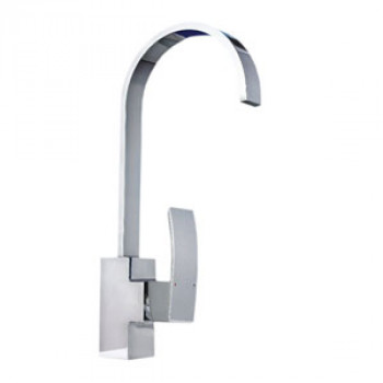 Dooa Deck Mounted Single Lever Sink Mixer With Swinging Cascade Spout Rubbic