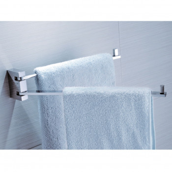Perk Double Swivel Towel Bar