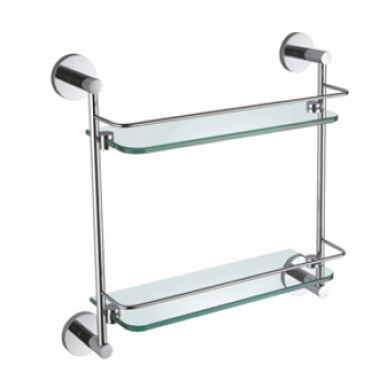 Perk Double Glass Shelf