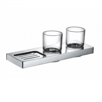 Perk Double Tumbler Holder with Soap Dish