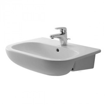 Duravit Semi-Recessed Wash Basin With Overflow