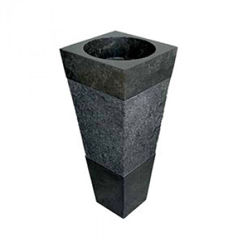 Free Standing Granite Wash Basin With Chiseled Pedestal