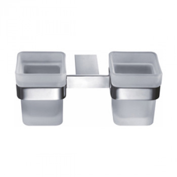 Perk Glass Sq. Double Tumbler Holder