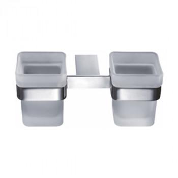 Perk Glass Sq. Double Tumbler Holder