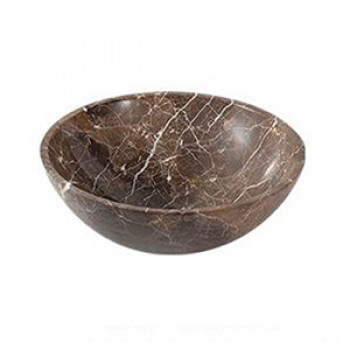 Dooa Emperador Stone Counter Top Wash Basin Round Shape HEP-C5