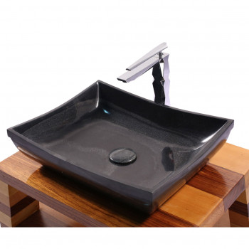 Dooa Black Marble Stone Wash Basin