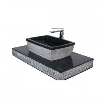 Dooa Black Marble Stone Wash Basin