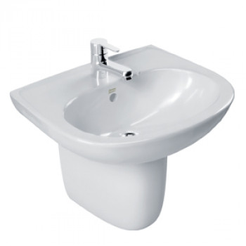 American Standard Wall Hung Basin with Half Pedestal - New Codie Oval