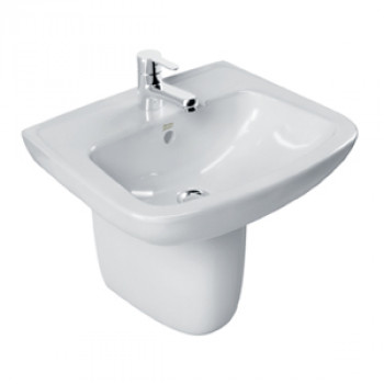 American Standard Wall Hung Basin with Half Pedestal - New Codie Square