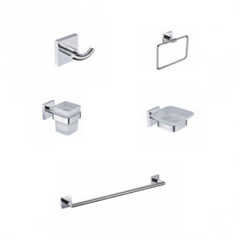 Perk Qubix Series Bath Accessories Set 5 Pcs-1