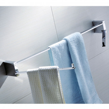 Perk Towel Bar with Swivel Towel Ring & Hook
