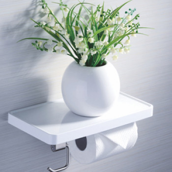Perk Roll Holder with Shelf and Hook