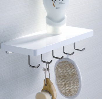 Perk Shelf with 5 Hooks