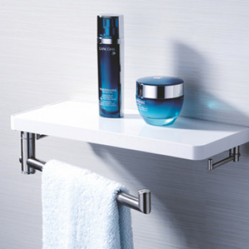 Perk Shelf with Towel Ring & Hook