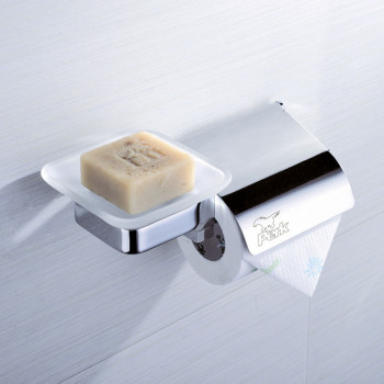 Perk Soap Dish with Roll Holder with Cover