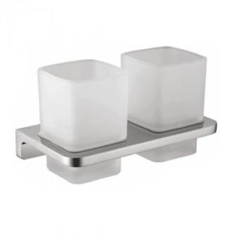 Perk Solid Double Tumbler Holder (Glass)