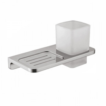 Perk Solid Soap Dish with Tumbler Holder (Glass)
