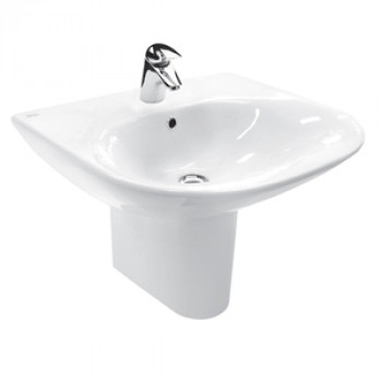 American Standard Wall Hung Basin with Half Pedestal - Tonic