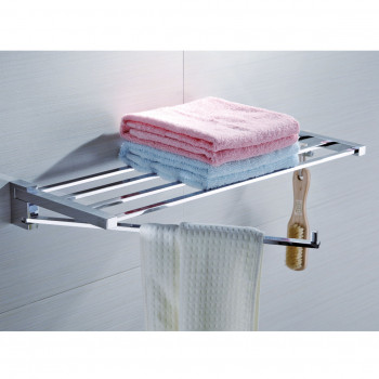 Perk Towel Rack with Swivel Bar & Hook