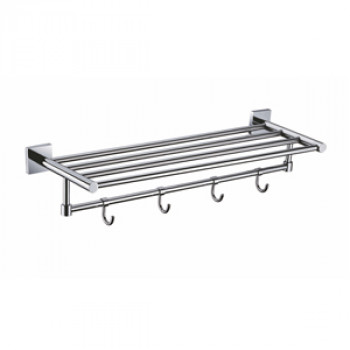 Perk Towel Rack With Four Hooks 450mm