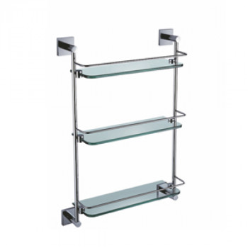 Perk Triple Glass Shelf