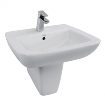 American Standard Wall Hung Basin with Half Pedestal - Ventuno
