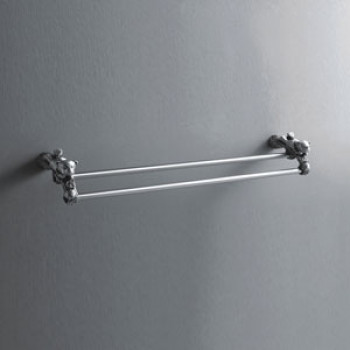 Viking Double Towel Rail Bear Brass Made