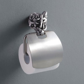 Viking Toilet Paper Holder Flower Brass Made
