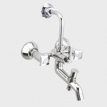 Aquel Wall Mixer With 2 Way Divertor For Hand Shower & Bend For Over Head Shower GR 06-44