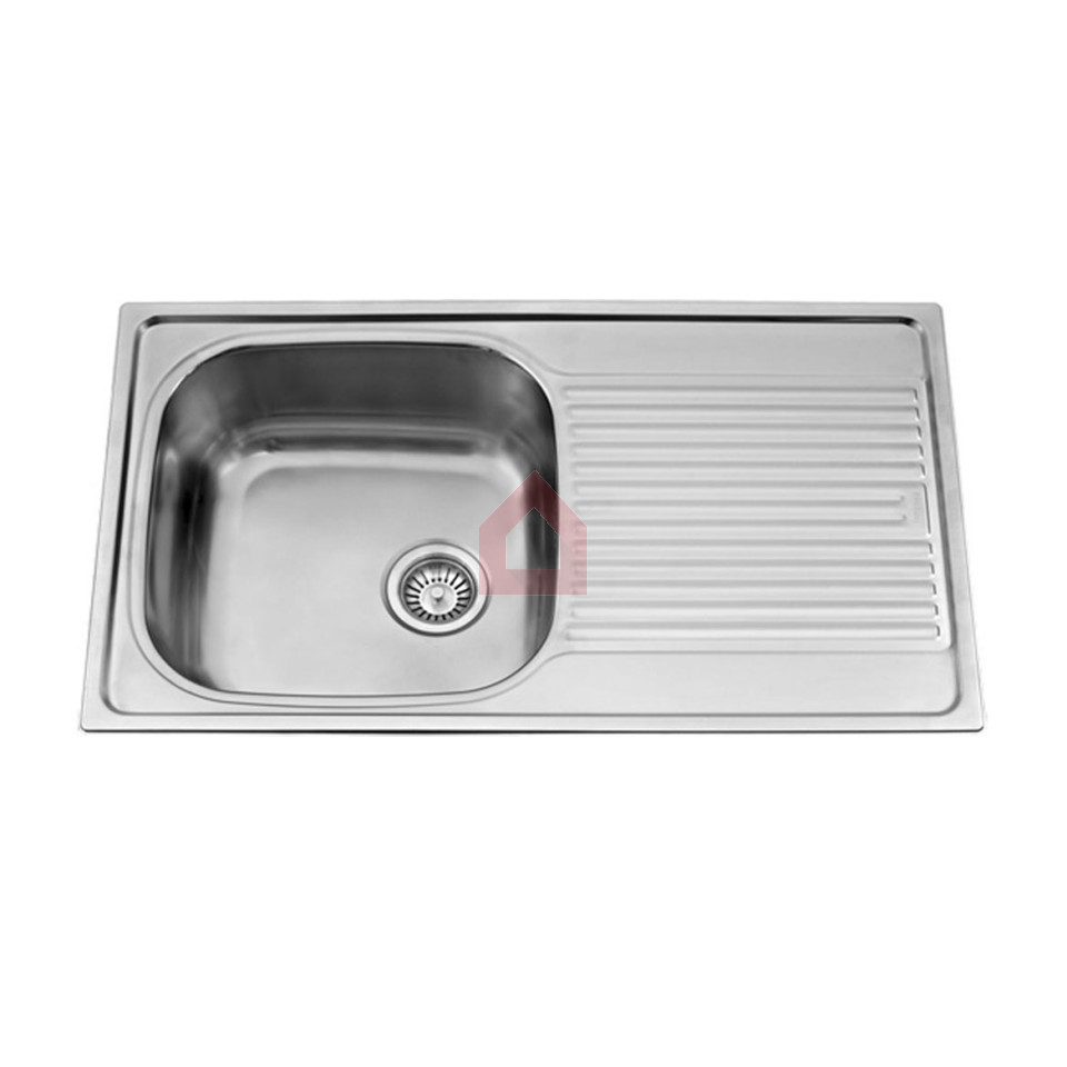 Single bowl double drainer stainless steel sink - Single Bowl Kitchen Sink With Drainer Zitzat