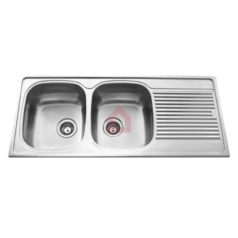 carysil two bowl kitchen sink with drainer vogue buy carysil rh decorals com  ceramic two bowl kitchen sink