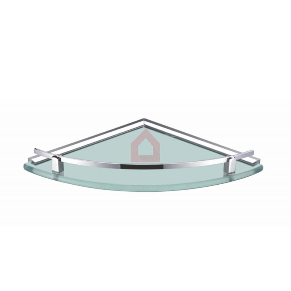 Perk Corner Shelf 10inches Brass & Glass Shelf Taffen Glass - Buy ...