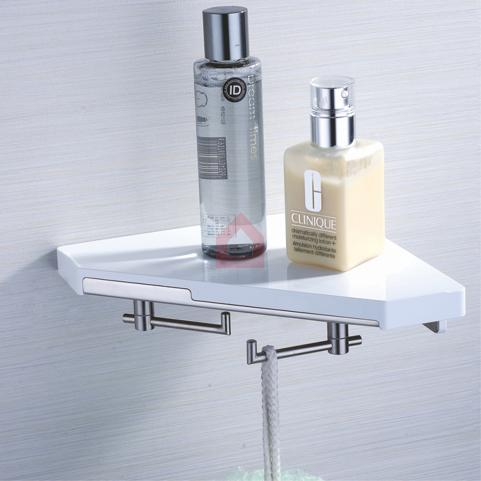 Perk Corner Shelf with Hook New Concept - Buy Bath Shelves Online at ...