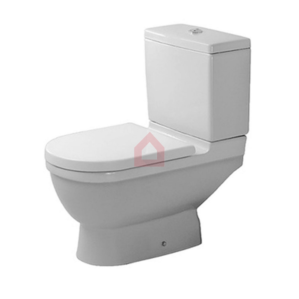 duravit floor mounted two piece toilet starck 3 buy. Black Bedroom Furniture Sets. Home Design Ideas