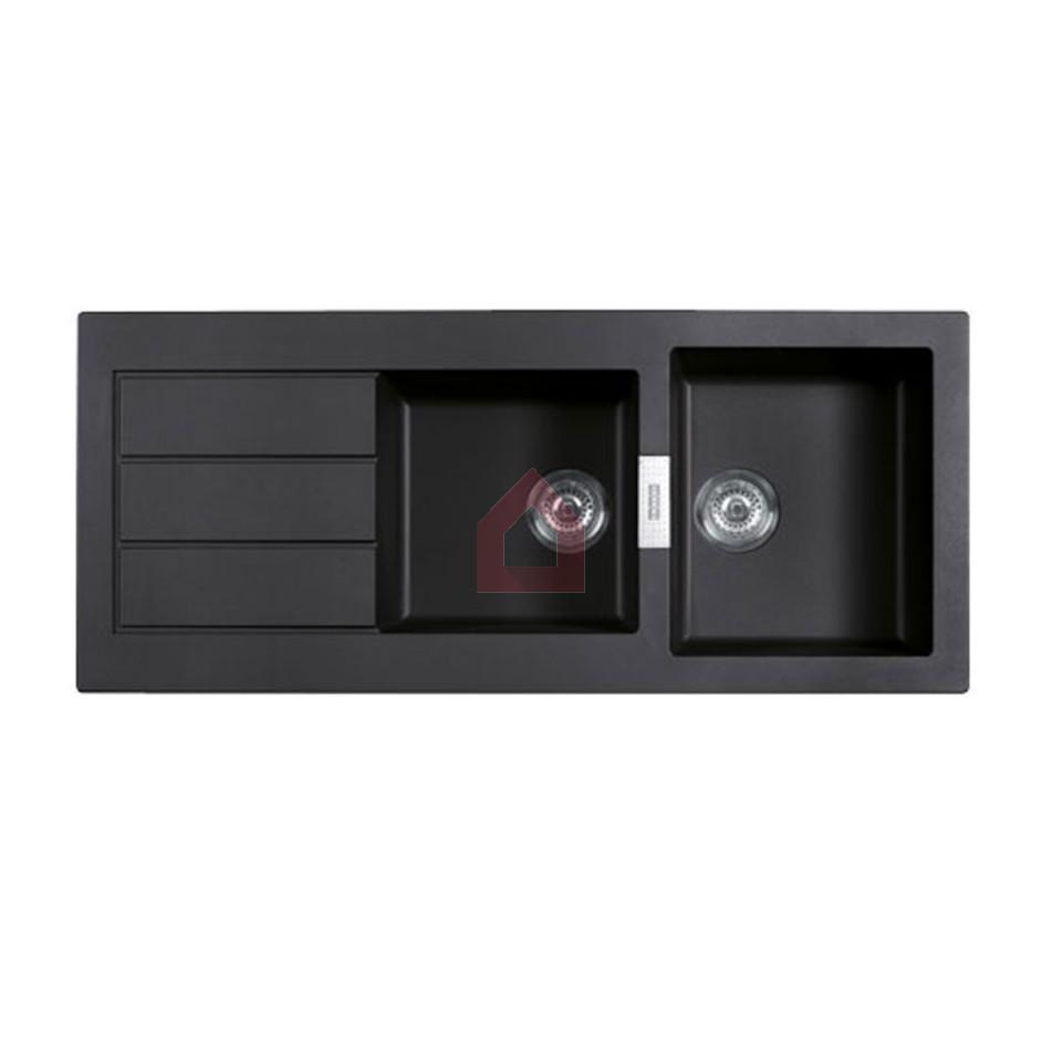 franke double bowl kitchen sink set tectonite buy franke. Black Bedroom Furniture Sets. Home Design Ideas