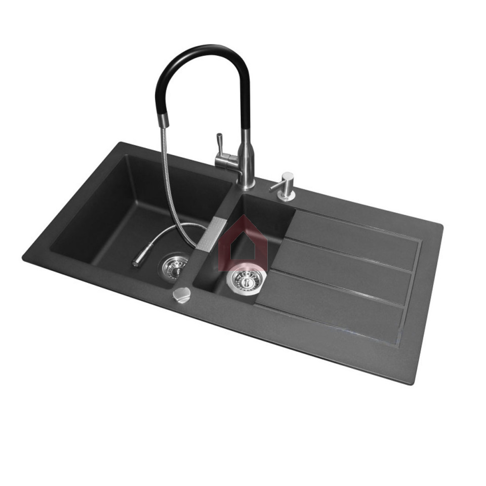 Franke Sinks India : Franke Double Bowl Kitchen Sink Set Tectonite - Buy Franke Online at ...
