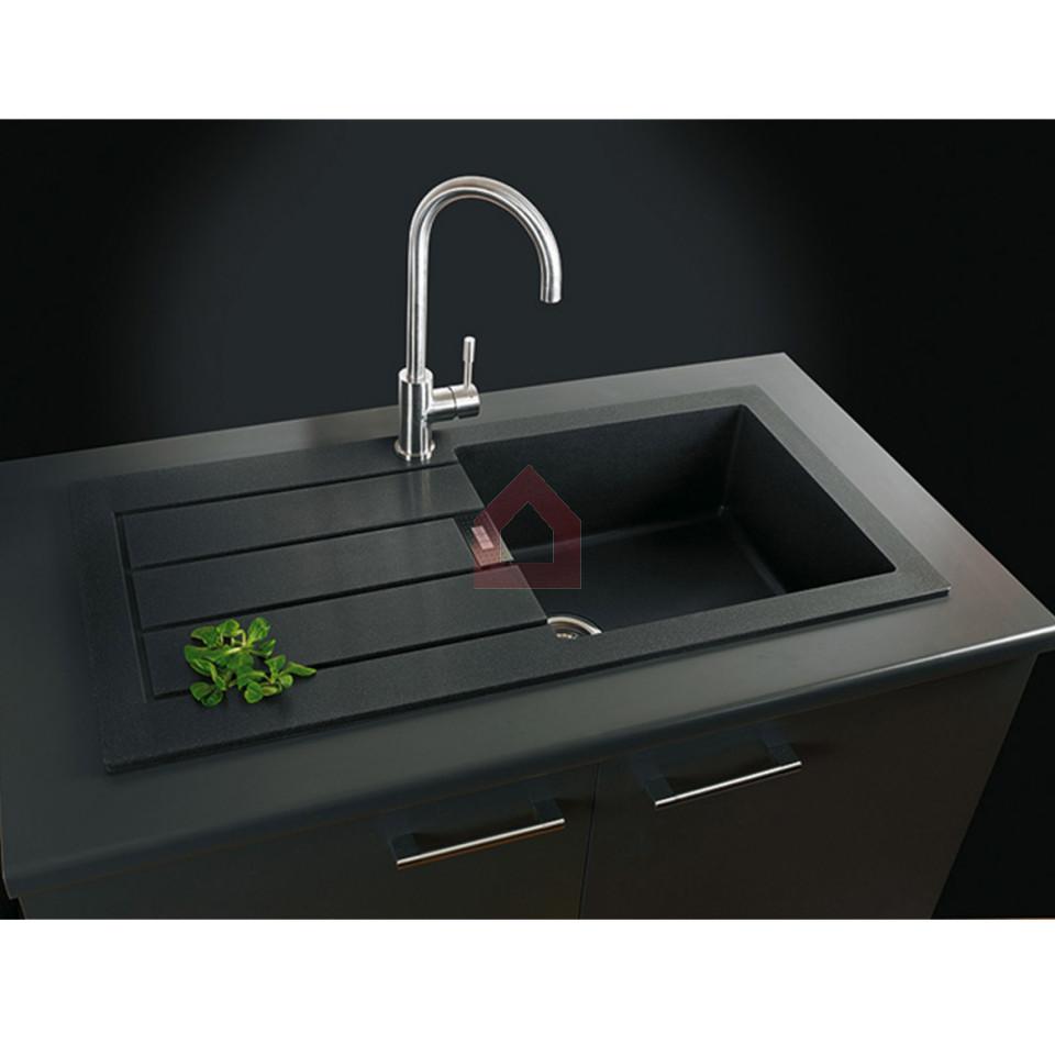 franke single bowl kitchen sink set tectonite buy franke. Black Bedroom Furniture Sets. Home Design Ideas