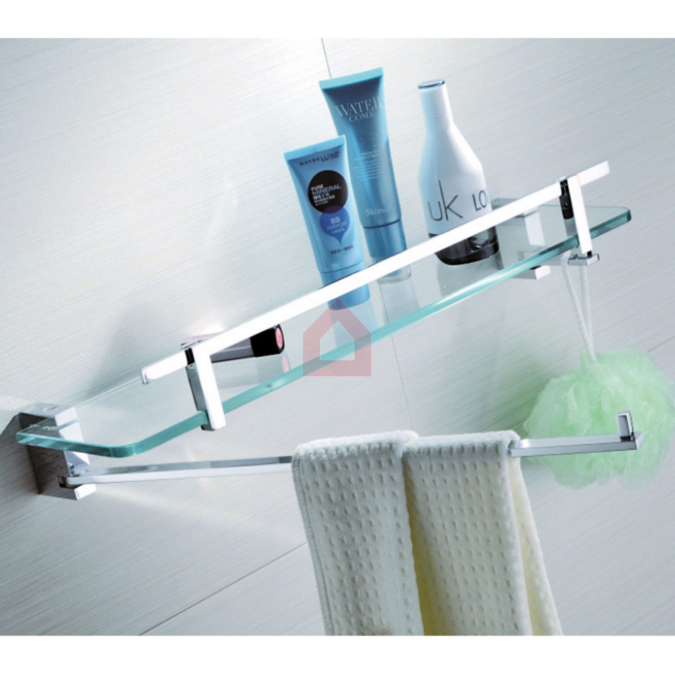 Perk Glass Shelf Swivel Bar & Hook Orient Series - Buy Bath Shelves ...